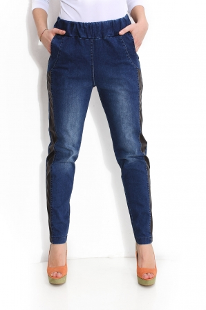 Blue Denim trousers with front pockets Avangard
