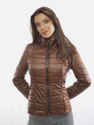 Ladies sport-elegant jacket in brown 11901/P6