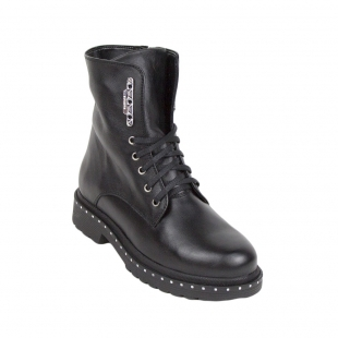 Black tall boots with couplings type 34250