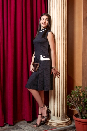Formal dress dots with polo neck Avangard