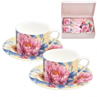 Classic Cups Set With Roses Lancaster