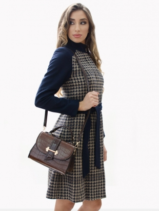 Elegant bag in color coffee ST-712-M