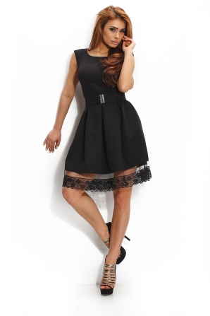Official dress in black with a lace