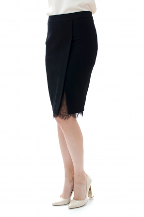 Ladies black skirt with lace 51905-970
