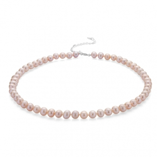 Fresh water pink pearls necklace 7.5-8mm R04378NR Swan