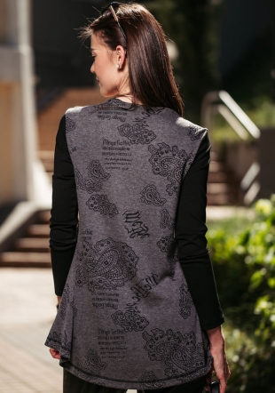 Women's tunic blouse with leather elements Avangard