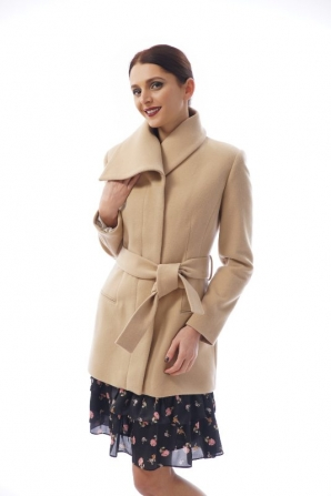 Women's casual coat color camel Radeks