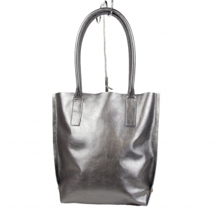Women's silver leather bag 19265