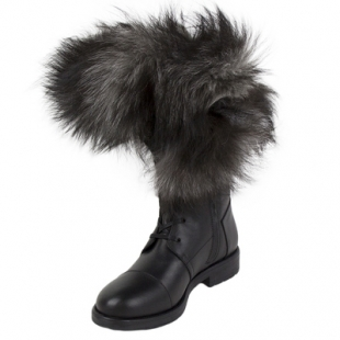 Ladies boots with fluffy collar Top113