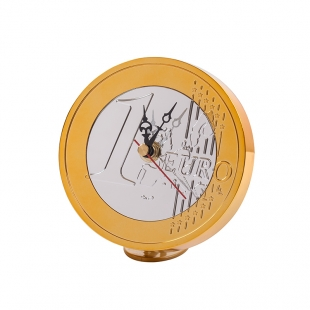 Euro Table clock Orchids Gold