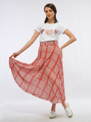 Women's ethereal skirt in pink 8219