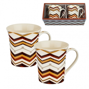 2 Decorated Coffee/Tea Mugs Set New Wish