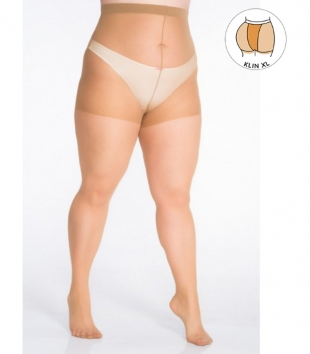 Plus size beige tights 40 DEN with additional band LIDA
