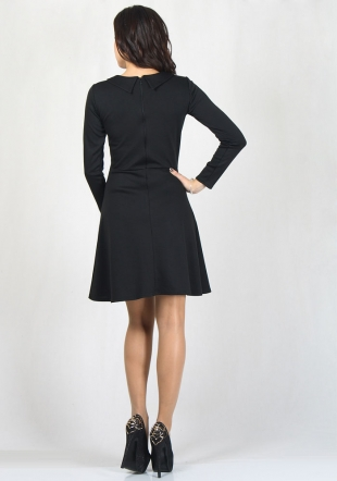 Black dress with or without collar with white lace neck RUMENA