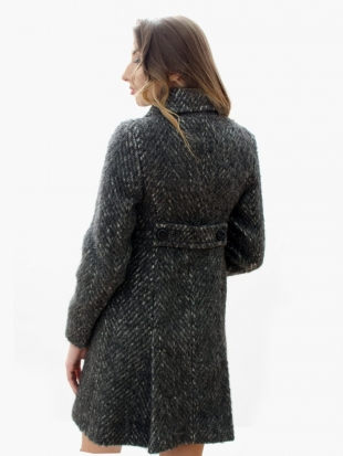 Elegant coat in gray tweed 11816-T8