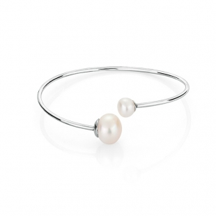 Stainless steel bracelate with white pearls BR01BR Swan