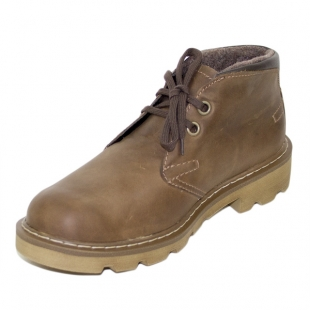Men's camel colour leather boots with warm lining Josef Seibel 20572