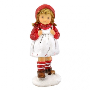 Christmas figurette Girl with a backpack Dims