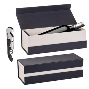 Set of Wine Accessories in Luxury Box dark color Vertini