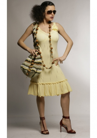 Yellow ladies dress-Z-07