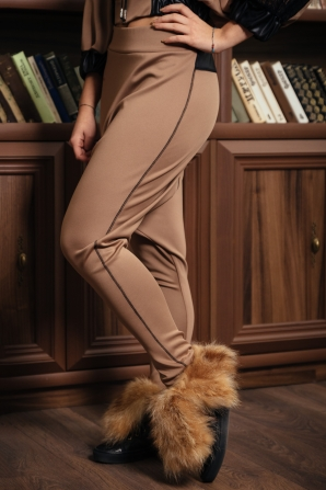 Women's beige deep trousers Avangard