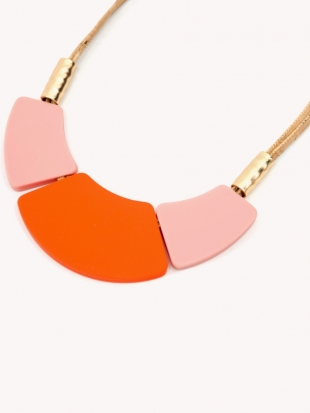 Women's pink necklace 1025-76