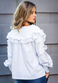 White wide shirt with frills Avangard