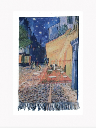 Scarf picture - Van Gogh's 1819 Night Cafe Terrace