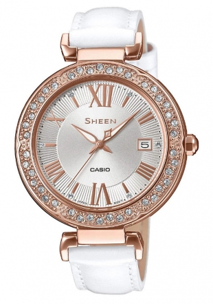 Дамски часовник с камъни SWAROVSKI Sheen Collection Casio SHE-4057PGL-7AUER