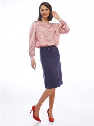 Women's blouse in coral color 8202-1