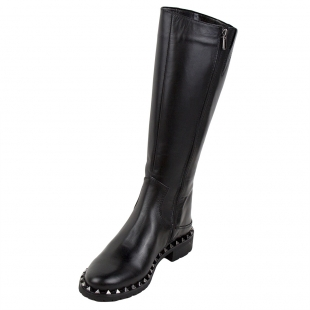 Women's black boots with studs 32827