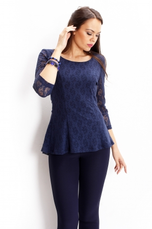 Lace tunic in blue color