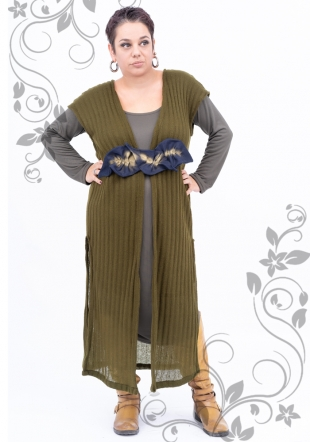 Maxi dress with knit dress and decoration Ilina