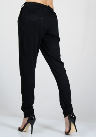 Cotton trousers with frilled element RUMENA