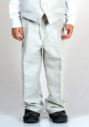 Light Colour Pants with Zip Closure and Pockets RUMENA