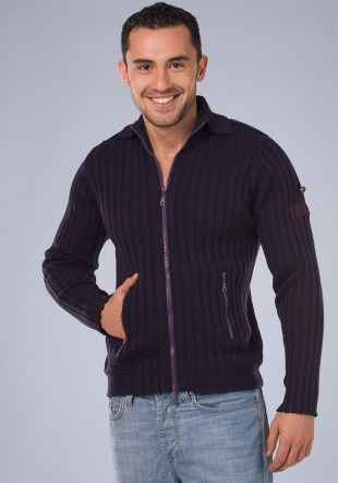 Zip fasterning dark purple cardigan Z