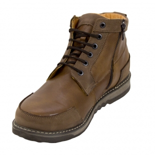 Men's leather boots with lambs wool lining 32837