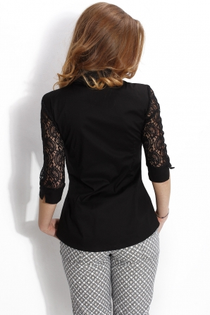 Black lace peplum shirt Avangard