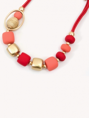 Women's red necklace 1025-48