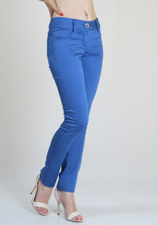 Blue cotton trousers RUMENA