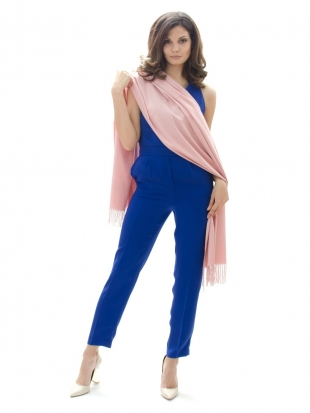 Cashmere scarf in pale pink color 88997