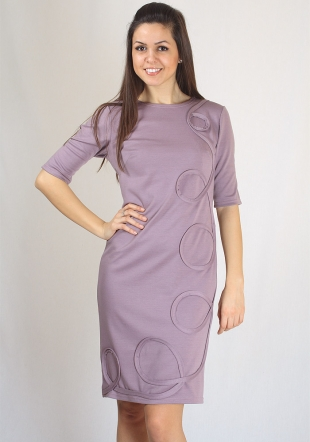 Daily dress with Fashioanble pattern and Oval Neck RUMENA