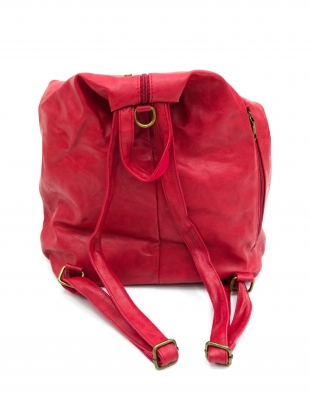 Women's red backpack 011R01