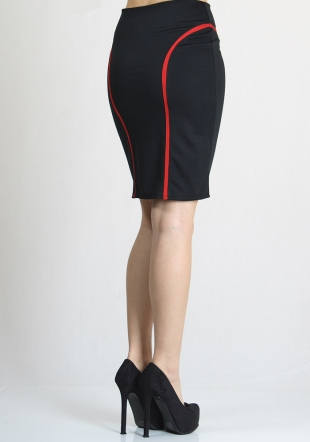 Black skirt with red stripes RUMENA