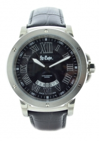 Lee Cooper LC-60G-H Men's black leather strap watch