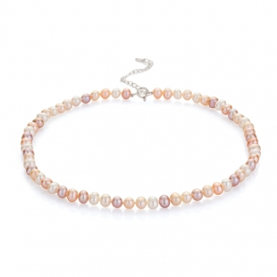 Fresh water pearls necklace 6.5-7mm R0436NM Swan