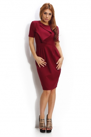 Dress in bordo color