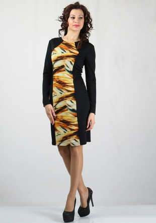 Women's dress with colourful print front RUMENA