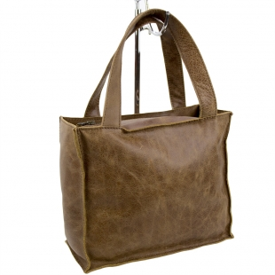 Natural light brown leather bag 33819