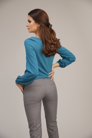Women's fitted trousers 7/8 pipette length 62111-948